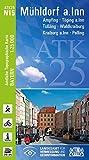 ATK25-N15 Mühldorf a.Inn (Amtliche Topographische Karte 1:25000): Ampfing, Töging a.Inn, Tüßling, Waldkraiburg, Kraiburg a.Inn, Polling (ATK25 Amtliche Topographische Karte 1:25000 Bayern)