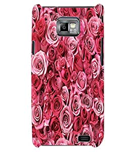 ColourCraft Beautiful Roses Design Back Case Cover for SAMSUNG GALAXY S2 I9100