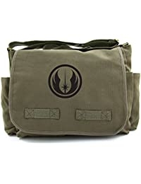 Jedi Order Logo Army Heavyweight Canvas Messenger Shoulder Bag In Olive & Black By Army Force Gear