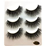7e8000847de Voberry 3 Eyelashes, 3 Pairs Long False Eyelashes Makeup Natural Fake Thick  Black Eye Lashes