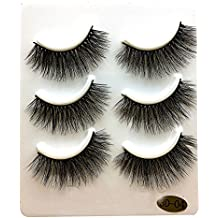 Homebaby Faux Cils 5 Paires Natural Look Faux Cils Volumineux Maquillage Extension Cils