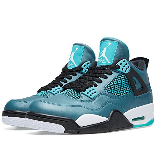 Nike Air Jordan 4 Retro 30th, Chaussures de Sport Homme, Vert Multicolore - Verde / Blanco / Negro (Teal / White-Black-Retro)