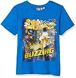 Transformers Bumblebee Jungen T-Shirt \Buzzing\, Blau (Blue), 7-8 Jahre