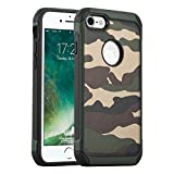 JAMMYLIZARD Coque iPhone 7 et iPhone 8 Housse Case Incassable Renforcée Militaire Cover Camouflage pour iPhone 7 et iPhone 8, Vert
