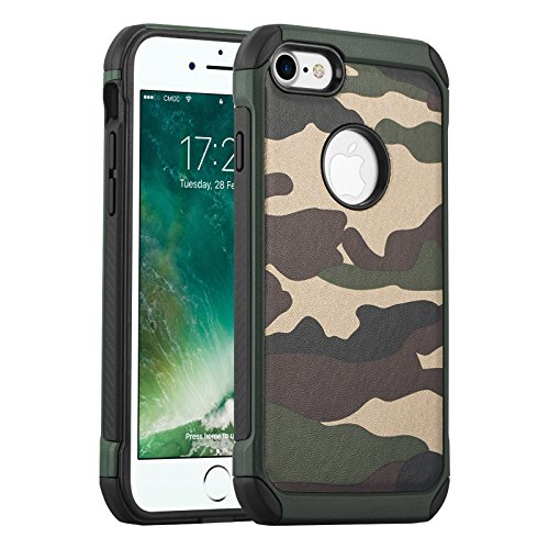 Cover iPhone 6, JAMMYLIZARD [Army] Custodia Heavy Duty Militare in TPU per Apple iPhone 6 e Apple iPhone 6s, VERDE VERDE