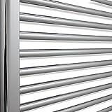 500 mm breit, 700 mm hoch, 22 mm, für beheizte Handtuchhalter, beheizbar, elektrisch, Thermostat, gewölbt, Heizkörper, Chrom - 5