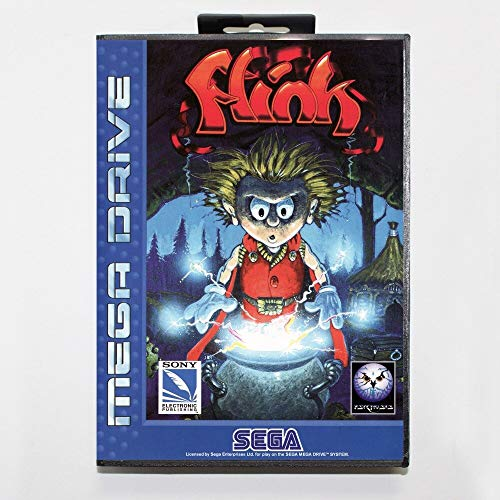 The Crowd Tradensen 16 Bit Sega Md Spielkartusche mit Einzelhandelsverpackung, Misadventure of Flink Spiel Karte für Megadrive Genesis System