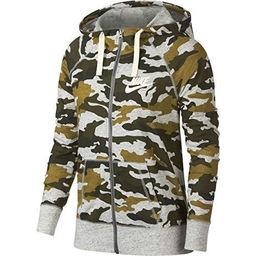 Nike Vintage Camo Sweatshirt Damen, Olive Flak/Sail, 2XL