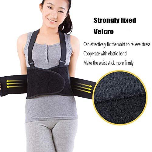 Wsjfc Rückenstützgürtel mit abnehmbaren Hosenträgern und abnehmbaren Hosenklammern - Lordosenstütze - verstellbar, leicht, atmungsaktiv,XXL8fd9cdd8f4db2bd633174a12ab. (Hinweis 2 Fälle Mit Gürtel-clip)