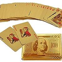 بطاقات لعب من الذهب عيار 24 قيراط من العلامة التجارية بوكر