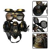 Volwco Máscara de Gas Steampunk, anteojos Punk de Halloween de Primera Calidad, Estilo Retro, para Disfraz, máscara, máscara de respirador