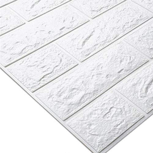 LELTWS Wandaufkleber Pe Schaum 3D Wand Aufkleber Geprägt Ziegel Wasserdicht Self Adhesive Wallpaper Room Home Decor Für Kinder Schlafzimmer Wohnzimmer Aufkleber (Geprägte Wallpaper Ziegel)