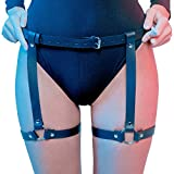 Sexy Harness Punk Leder Taille Anti-Rutsch-Clips Harness Gothic Strumpfband - Damen