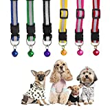 #5: Pets Empire Reflective Safe Pets Collar with Bells Adjustable Length ,9-13 In (Color May Vary)