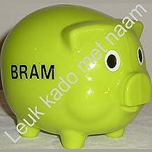 Geburtstaggeschenk Mädchen: grün Sparschwein mit Name