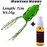 #6: Top Water,Floating Fishing Frog, With High Rigged Stainless Steel Hooks,Crankbait Hooks