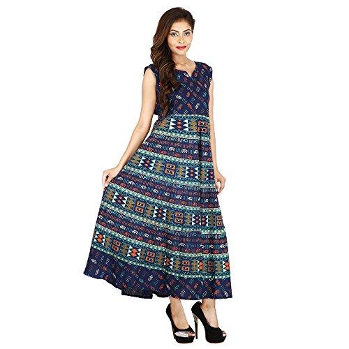 The Jaipur Bazar Women\'s Cotton Dress (Tjb-Ryndrs-2054_Multicolor_Free Size)