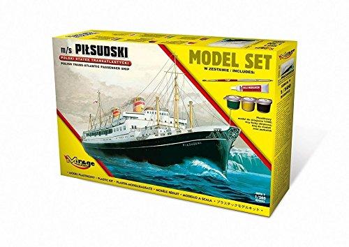 Mirage Hobby 850092-Modellino di M/S Pilsudski Trans Atlantic Passenger Ship Model Set