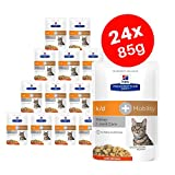 Hills Prescription Diet k/d + Mobility Adult Cat Food with Chicken, Kidney + Joint Care 12 x 85g (Pack of 2)