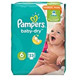 Pañales Pampers Baby-Dry 6,15kg, 23pañales, 1 pack (23Unidades), 1paquete = 1 dosis