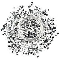 Stargazer Glitter Stars, Maquillaje de ojos con brillos (Plata) - 1 unidad