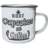 Nuevo Delicioso Cupcakes Café Retro, lata, taza del esmalte 10oz/280ml m578e