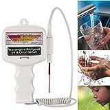 Scallop Elektronischer Wasserqualitätstest Schwimmbad Teststreifen Wassertester Chlormessgerät PH Chlor Wasser Wert Tester Elektro-Tester für Test pH und Chlor im Wasser