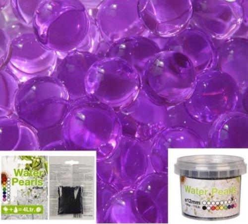 100g Wasser Aqua Akzente Kristall Erde Gel-Ball Perlen 13Farben violett