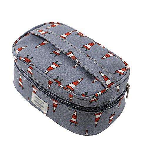 Make-up-Tasche Kleine Reise Lovely Hand-Held Waschbeutel Handtasche Tasche Lagerung Kosmetikbeutel Toilettenbeutel Grey