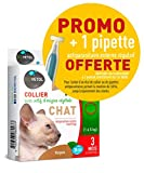 Biovetol - Offre Speciale - Collier Anti-Puce pour Chat + 1 Pipette Offerte