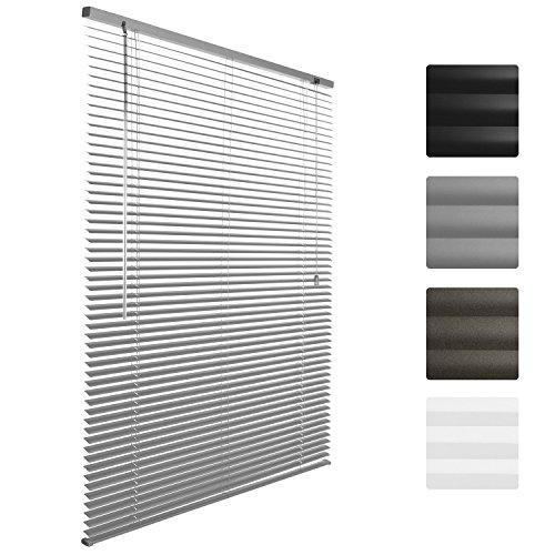 Sol Royal Alu-Jalousie SolDecor J32 Aluminium Jalousie 40x130 cm einfache Montage ohne Bohren inkl. Klemmträger Silber