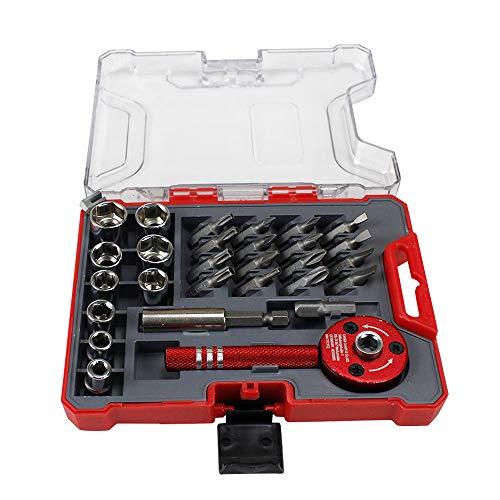 ns-Palm-Ratschenschlüssel mit magnetischen Bohrer-Treiber-Sockel-Schraubendreher-Kit Reparaturwerkzeuge ()