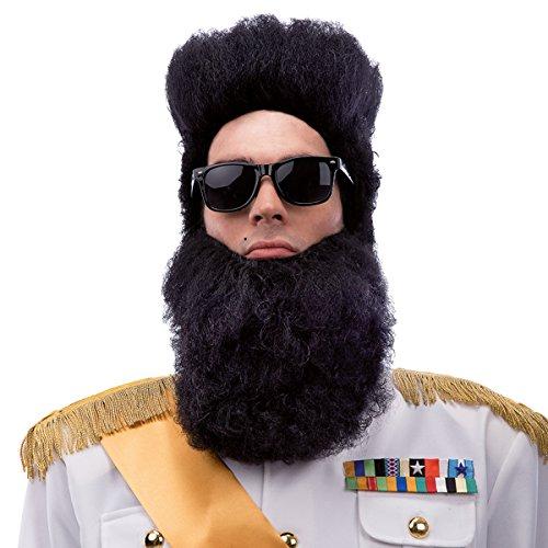 Carnival Toys 2945 - Perücke und Bart - Diktator Kostüm