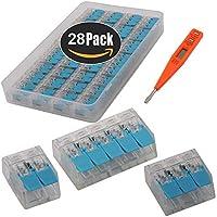 KINYOOO Terminales Electricos Rapidos, Terminales Cables/Alambre Compacto Conector PCT-412 (paquete de 12) 413 (paquete de 12) 415 (paquete de 4) + Comprobador de Voltaje