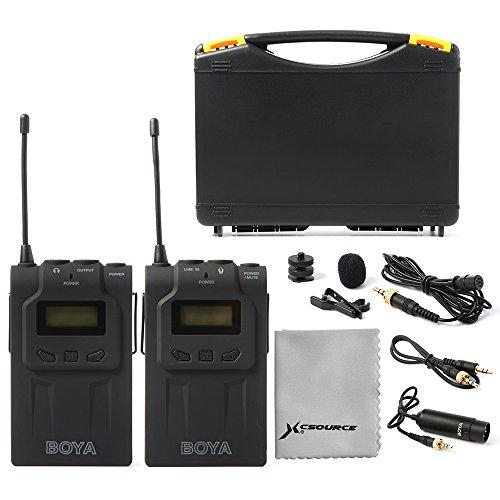 BOYA Système de Microphone Lavalier Sans fil BY-WM6 UHF Unique Pour Caméscope Enregistreur Vidéo Canon Nikon Sony DSLR LF731