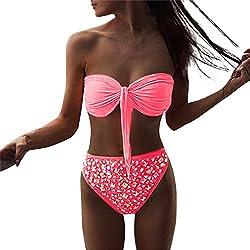 a22cbd840e Mambain Costumi da Bagno Donna Brasiliana, 2019 Bikini Donna Sexy Push Up  Vita Alta con