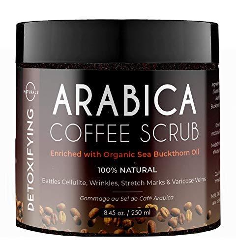 Esfoliante del Mar Muerto de Café Arábico O Naturals, Crema Reductor