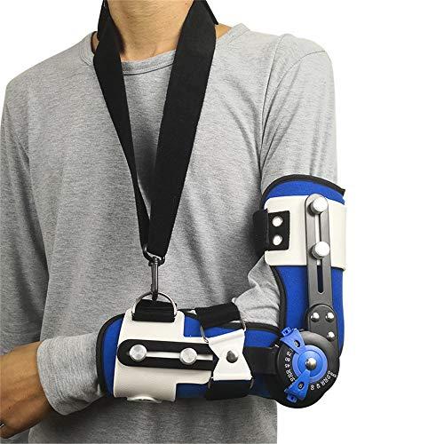 Gomito ROM a gomito con cinghia, Supporto regolabile per recupero infortunio del braccio dello splint del bracc,left