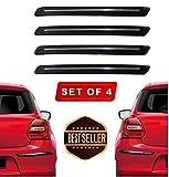 VRT Rubber Car Bumper Protector Guard with Single Chrome Strip for Car 4Pcs