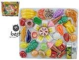 Best For Kids 41 TLG Lebensmittel Set für Spielküche Zubehör + Gratis