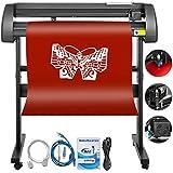 Bisujerro 720mm Plóter de Corte 28 Pulgadas Máquina de Plotter Plóter Máquina para Hacer Signo con Escáner Signmaster Software Cutter Plotter (720mm)