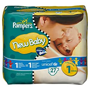 pampers 81267867 new baby couches taille 1 new born 2 5 kg paquet 27. Black Bedroom Furniture Sets. Home Design Ideas