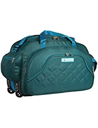 M MEDLER Duffel_PRO-Turq 60L Duffle Strolley Bag- 2 Wheels