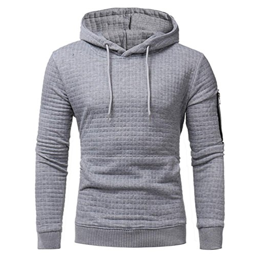 Winterjacken CLOOM Herren Klassisch langarm Plaid Hoodie Sweatshirt sport Hooded outdoorjacken Modisch Mit Kapuze Mantel Sternen Hoch wertige Kapuzenpullover Outwear (XL, Grau) (Sweatshirt Hooded Armee)