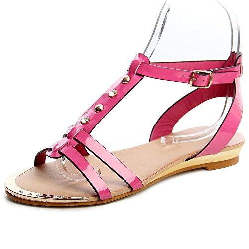 topschuhe24 544 Damen Riemchen Sandalen Pink