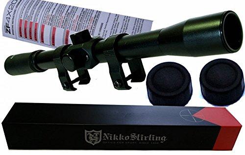 Das Originale Nikko Stirling Zielfernrohr 4x20 Duplex inklusive Montage und 2 Staubschutzkappen. KEIN BILLIGER NACHBAU!!!!! (Luft-gewehr-montagen)