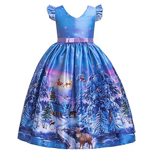 Zegeey MäDchen Baby Kleid Mit Cartoon Druck Weihnachten Partykleid Prinzessin Kleid Weihnachts Thema Bekleidungssets Festliche Geschenk Festzug Taufkleid - Coole 80's Cartoon Kostüm