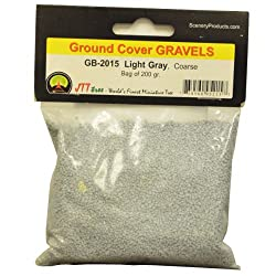 JTT Scenery Products Ballast and Gravel, Light Gray, Coarse/200gm