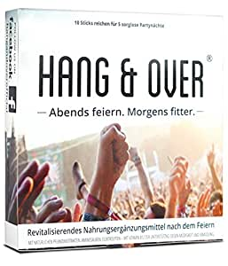 Hang & Over ® - 10 Pulver Sticks | Abends Feiern. Morgens Fitter. | Ab 30.September deutschlandweit bei dm erhältlich | Zum Kater Frühstück | Anti Müdigkeit – Mit Vitamin B12 Gegen Ermüdung