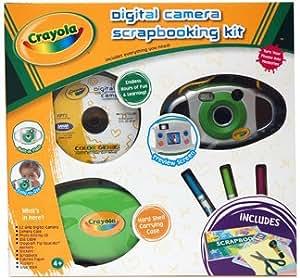 """Crayola 25075-INT Kit Appareil photo numérique pour Enfant 2,1 Mpix Écran 1,5"""" Livret Créatif Album photos"""
